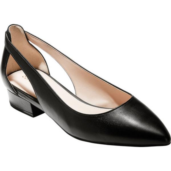 コールハーン レディース オックスフォード シューズ Marcey Skimmer Black Leather