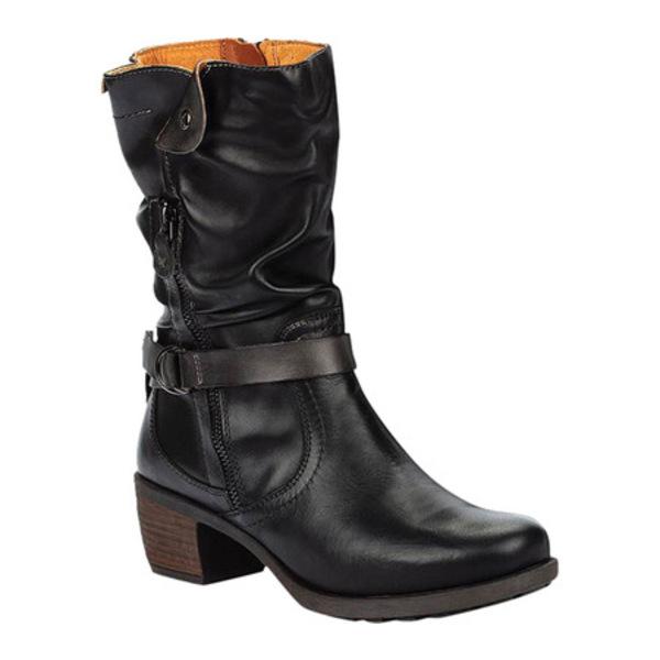 ピコリーノス レディース ブーツ&レインブーツ シューズ Le Mans Mid Calf Boot 838-9629 Black Calfskin Leather