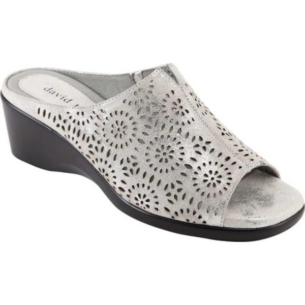 ダイビッドテイト レディース サンダル シューズ Sublime Slide Sandal Silver Antique Suede