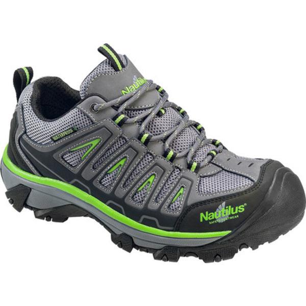 ヌウチルス メンズ ブーツ&レインブーツ シューズ N2208 Steel Toe Waterproof EH Athletic Work Shoe Grey/Lime Mesh/Action Nubuck Leather