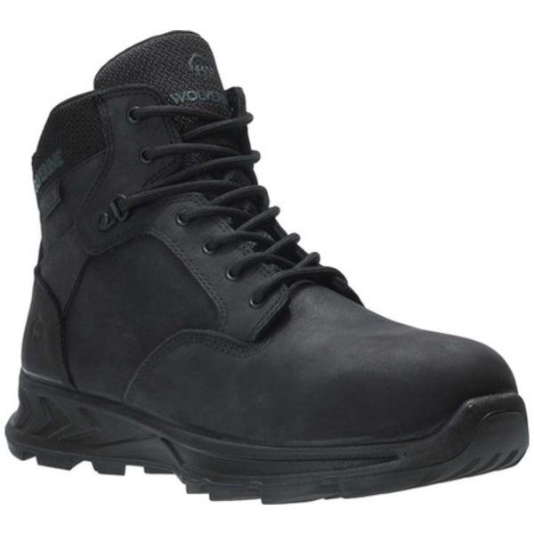 ウルヴァリン メンズ ブーツ&レインブーツ シューズ ShiftPLUS LX Alloy Toe Work Boot Black Full Grain Leather