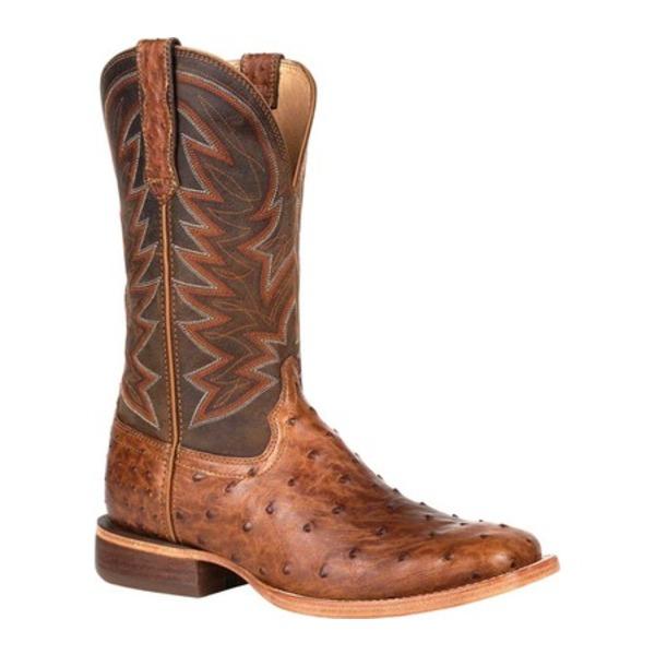 ヂュランゴ メンズ ブーツ&レインブーツ シューズ DDB0272 Exotic Full-Quill Ostrich Western Boot Sunset Wheat Ostrich/Full Grain Leather
