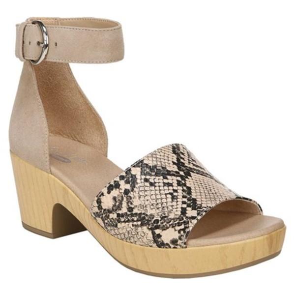 ドクターショール レディース サンダル シューズ Flora Ankle Strap Sandal Toasted Taupe Snake Leather