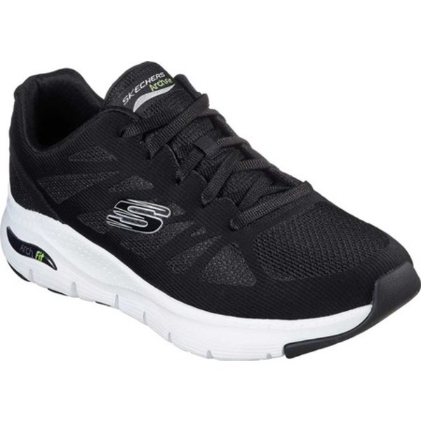 スケッチャーズ メンズ スニーカー シューズ Arch Fit Charge Back Sneaker Black/White