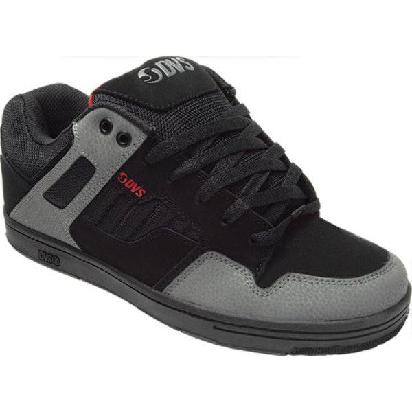 ディー・ブイ・エス メンズ スニーカー シューズ Enduro 125 Sneaker Black/Charcoal/Red Leather