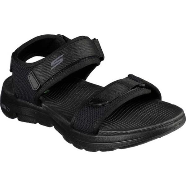 スケッチャーズ メンズ スニーカー シューズ GOwalk 5 Cabourg Sport Sandal Black/Black