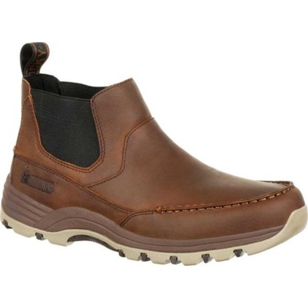 ロッキー メンズ ブーツ&レインブーツ シューズ Lakeland Twin Gore Outdoor Chelsea Boot RKS0362 Brown Full Grain Leather