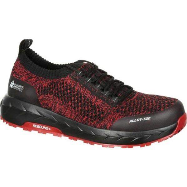 ロッキー メンズ ブーツ&レインブーツ シューズ LX Alloy Toe Athletic Work Shoe RKK0249 Black/Red Mesh/TPU