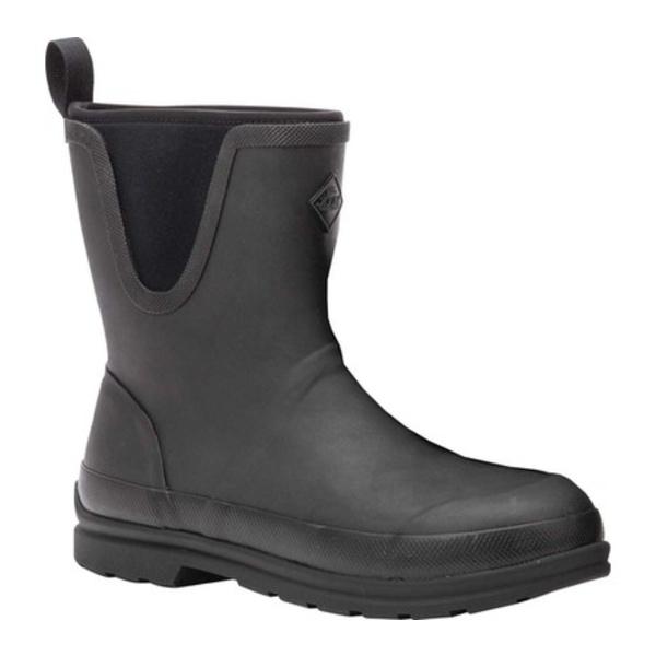 ムックブーツ メンズ ブーツ&レインブーツ シューズ Muck Originals Pull On Mid Waterproof Boot Black