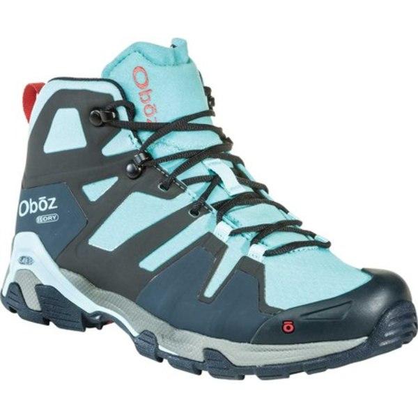 オボズ レディース ブーツ&レインブーツ シューズ Arete Mid B-DRY Hiking Boot Sky Jacquard Woven Mesh