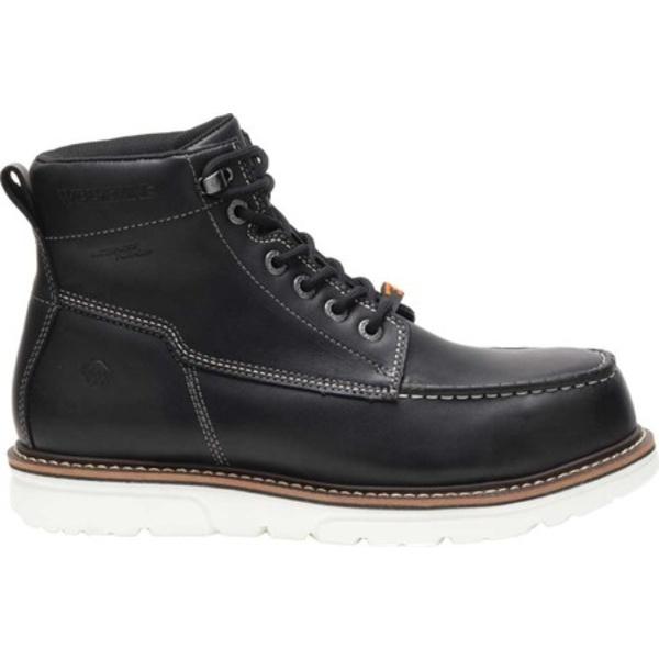 ウルヴァリン メンズ ブーツ&レインブーツ シューズ I-90 DuraShocks Moc Toe Work Boot Black/White Full Grain Leather