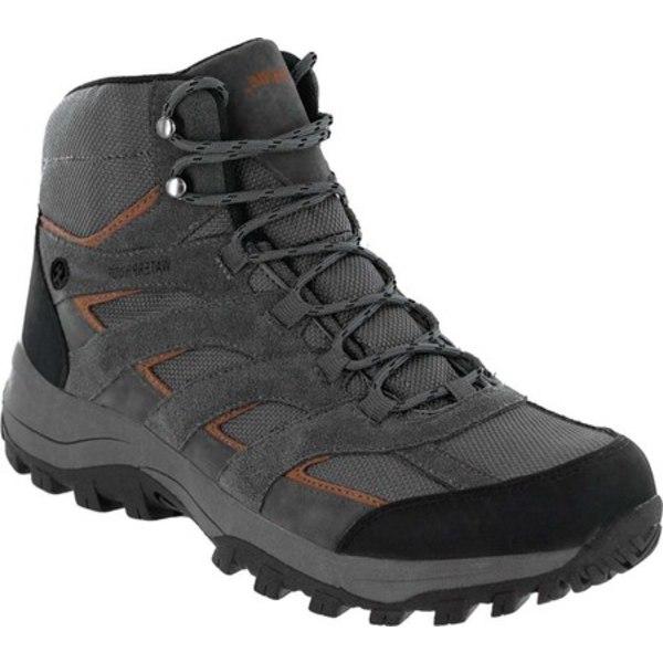 ノースサイドフットウェア メンズ ブーツ&レインブーツ シューズ Gresham Waterproof Mid Hiking Boot Charcoal/Orange Suede