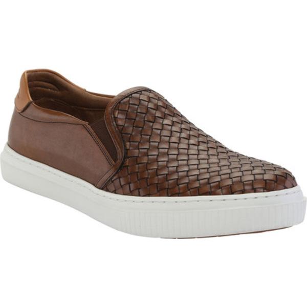 ジョンストンアンドマーフィー メンズ スニーカー シューズ Toliver Woven Slip-on Sneaker Tan Calfskin