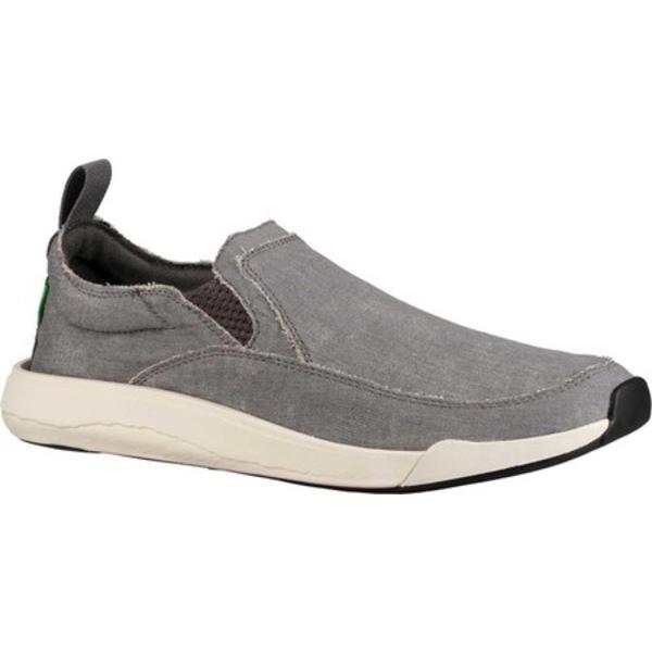 サヌーク メンズ スニーカー シューズ Chiba Quest Slip On Sneaker Grey Canvas