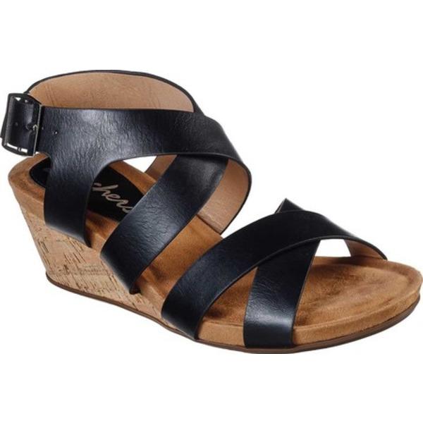 スケッチャーズ レディース サンダル シューズ Cool Step New Girl Strappy Wedge Sandal Black