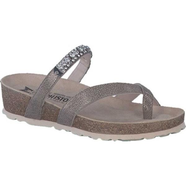 メフィスト レディース サンダル シューズ Solaine Toe Loop Sandal Dark Taupe Artic Leather