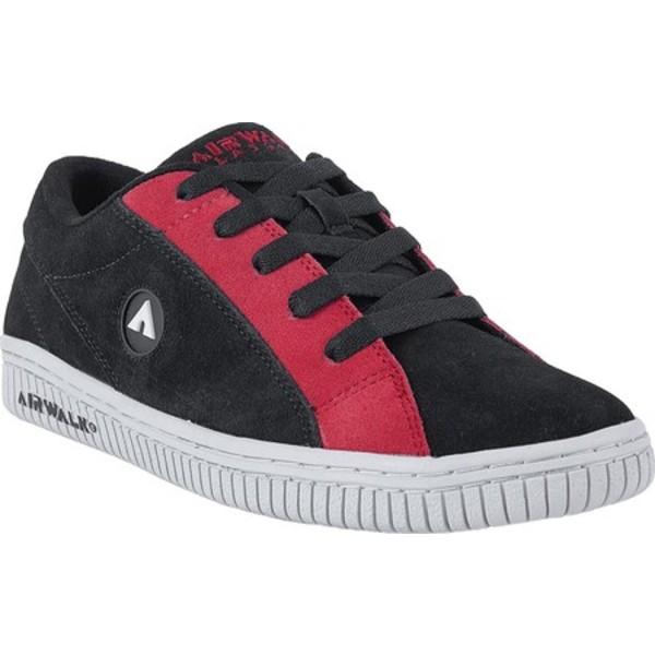 エアウォーク メンズ スニーカー シューズ The One Chance Skate Shoe Black/Red Suede