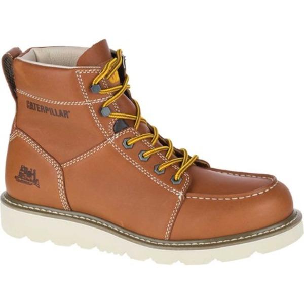 キャタピラー メンズ ブーツ&レインブーツ シューズ Tradesman Soft Toe Wedge Work Boot Tan Nubuck