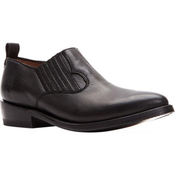 フライ レディース スリッポン・ローファー シューズ Billy Shootie Black Polished Soft Full Grain Leather