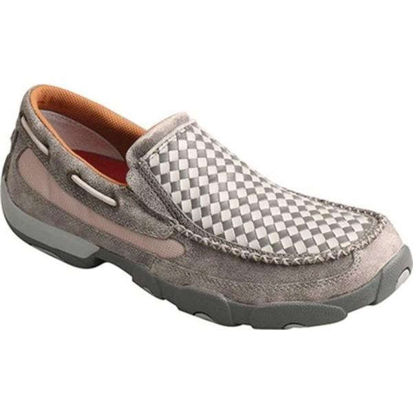 ツイステッド エックス メンズ ブーツ&レインブーツ シューズ MDMS015 Driving Slip On Moc Woven Grey/Grey Leather
