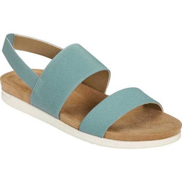 エアロソールズ レディース サンダル シューズ Hoboken Slingback Sandal Mid Blue Faux Leather/Elastic