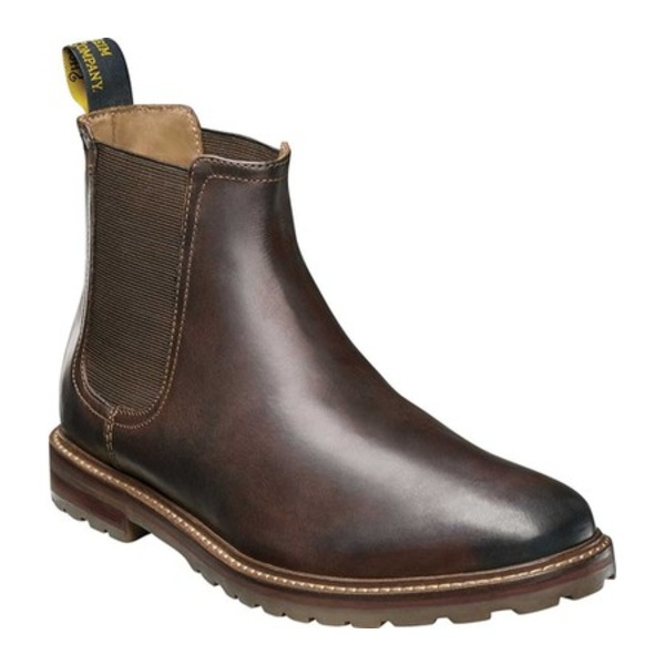 フローシャイム メンズ ブーツ&レインブーツ シューズ Estabrook Gore Boot Brown Crazy Horse Leather