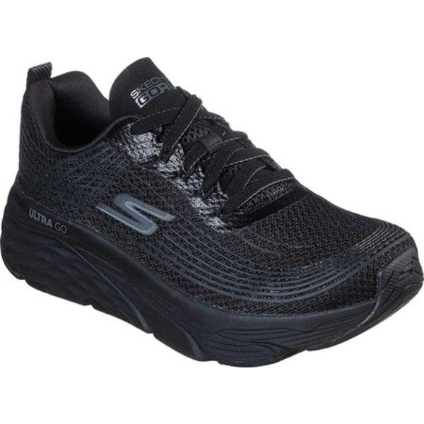 スケッチャーズ レディース スニーカー シューズ Max Cushioning Elite Running Shoe Black/Black