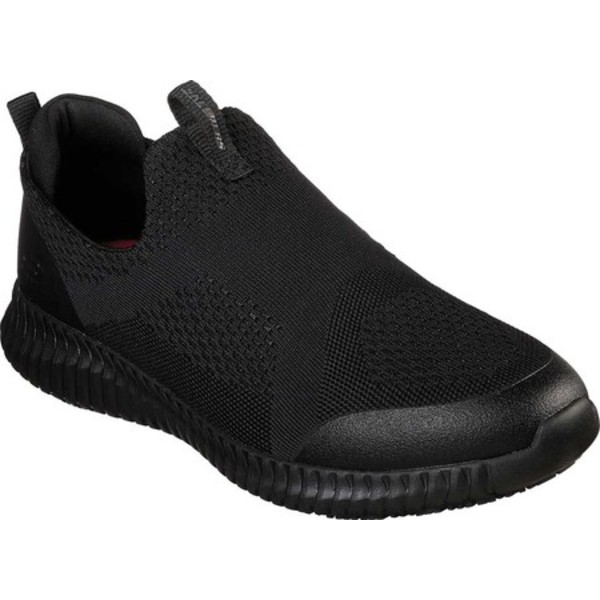 スケッチャーズ メンズ ブーツ&レインブーツ シューズ Work Relaxed Fit Cessnock Colleton SR Slip-On Shoe Black