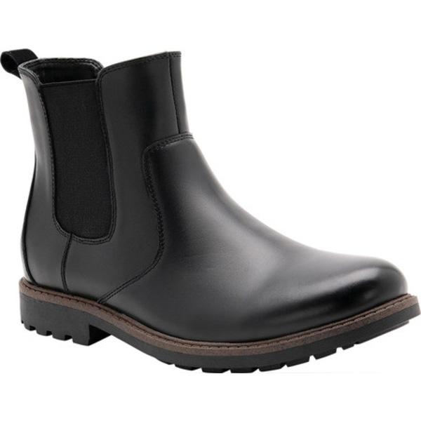 ブロンド メンズ ブーツ&レインブーツ シューズ Shadow Waterproof Chelsea Boot Black Leather