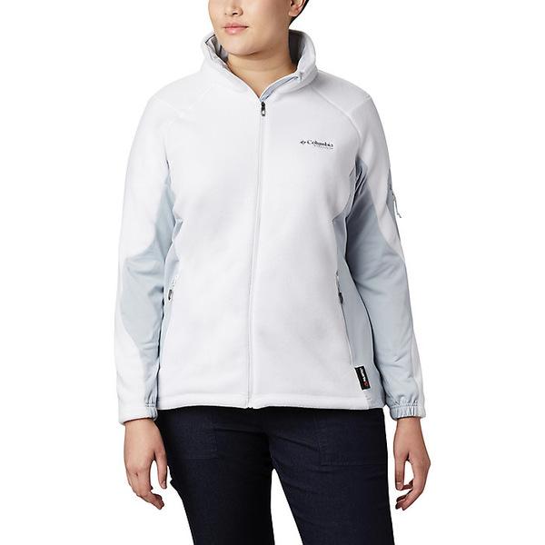 コロンビア レディース ジャケット&ブルゾン アウター Columbia Titanium Women's Titan Pass 2.0 II Fleece Top White / Cirrus Grey