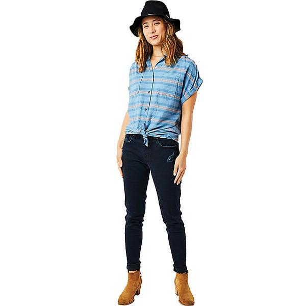 カーブデザイン レディース シャツ トップス Carve Designs Women's Huck SS Shirt Lake Stripe