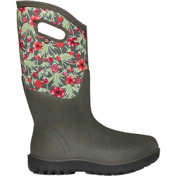 ボグス レディース ブーツ&レインブーツ シューズ Bogs Women's Neo Classic Tall Vine Floral Boot Dark Green Multi
