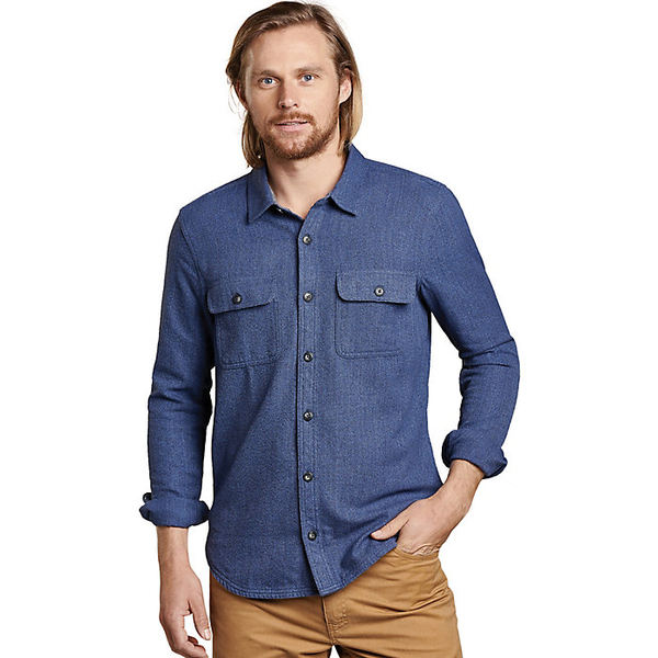 トードアンドコー メンズ シャツ トップス Toad & Co Men's Ranchero LS Shirt True Navy