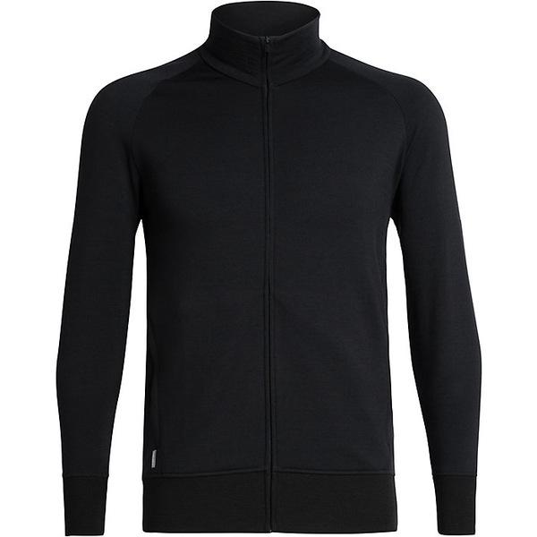 アイスブレーカー メンズ シャツ トップス Icebreaker Men's Lydmar LS Zip Top Black