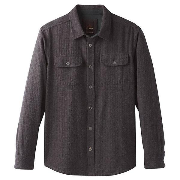 プラーナ メンズ シャツ トップス Prana Men's Lybeck LS Shirt Scorched Brown Herringbone