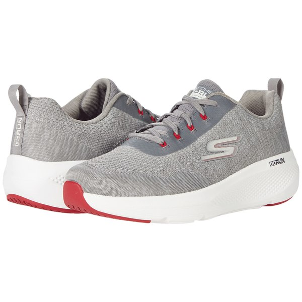 スケッチャーズ メンズ スニーカー シューズ Go Run Elevate - 220187 Grey/Red