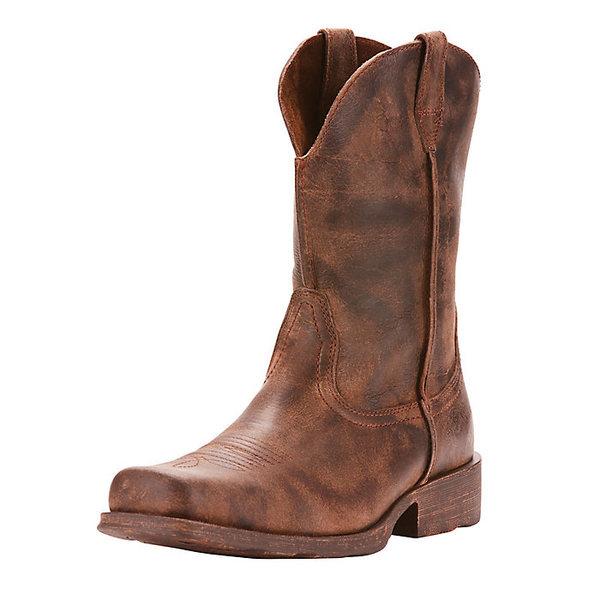 アリアト メンズ ブーツ&レインブーツ シューズ Ariat Men's Rambler Boot Antiqued Grey
