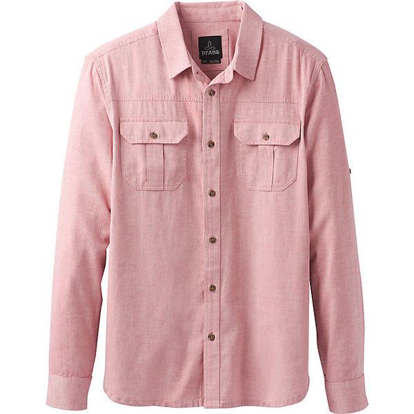 プラーナ メンズ シャツ トップス Prana Men's Cardston LS Shirt Sunstar Red