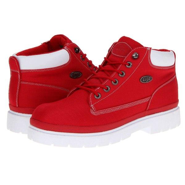 ラグズ メンズ ブーツ&レインブーツ シューズ Drifter - Ripstop Red/White Textile