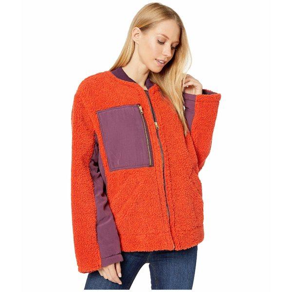 フリーピープル レディース コート アウター Rivington Sherpa Jacket Red