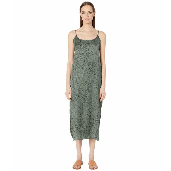 エイリーンフィッシャー レディース ワンピース トップス Silk Organic Cotton Dash Cami Maxi Dress Nori