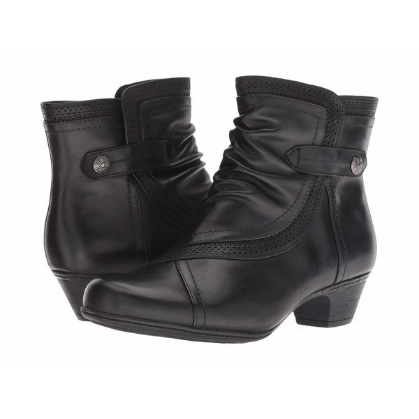 コブ ヒル レディース ブーツ&レインブーツ シューズ Cobb Hill Abbott Panel Boot Black Leather