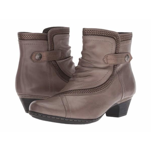 コブ ヒル レディース ブーツ&レインブーツ シューズ Cobb Hill Abbott Panel Boot Grey Leather