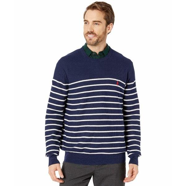 ラルフローレン メンズ ニット&セーター アウター Textured Stripe Crew Sweater Newport Navy/White