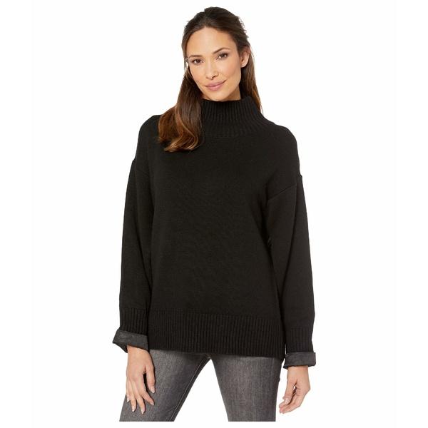 エリオットローレン レディース ニット&セーター アウター Hidden Agenda Mock Neck Sweater with Open Sleeve Detail Black