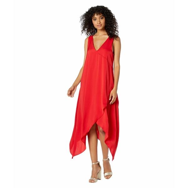ビーシービージーマックスアズリア レディース ワンピース トップス Handkerchief Hem Dress Jewel Red