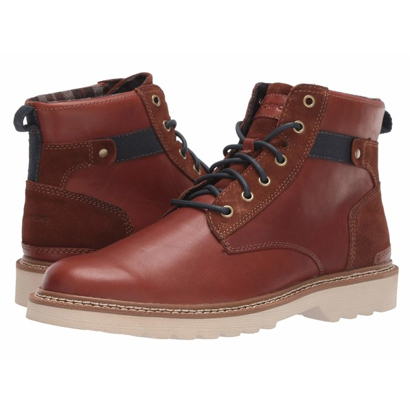 ロックポート メンズ ブーツ&レインブーツ シューズ Peirson Plain Toe Boot Tan Leather/Suede