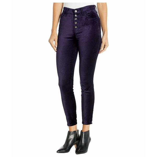 7フォーオールマンカインド レディース デニムパンツ ボトムス High Waist Ankle Skinny Exposed Button Royal Purple