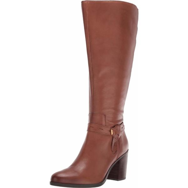 ナチュライザー レディース ブーツ レインブーツ シューズ Kamora Wide Calf Saddle Tan Leather WCWIEHD9Y2