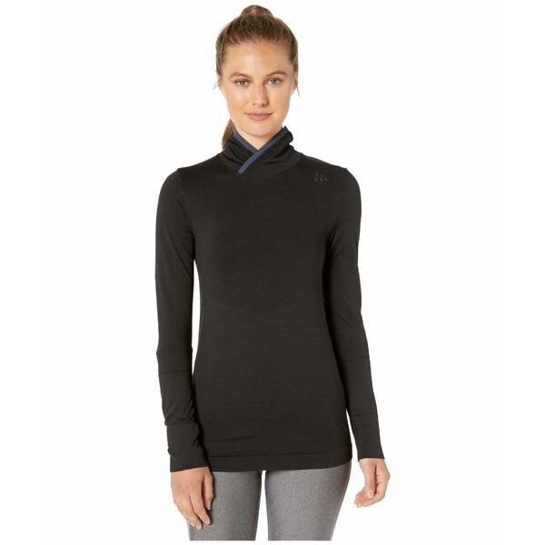 クラフト レディース シャツ トップス Fuseknit Comfort Wrap Long Sleeve Black